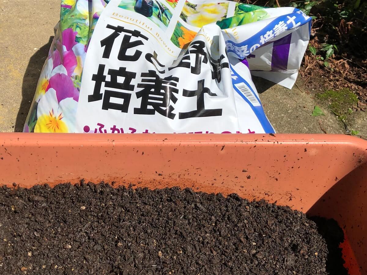 基本となる培養土の写真